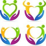 Povos do cuidado do amor Imagem de Stock Royalty Free