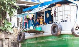 Povos do delta de Mekong, Cai Be, Vietname Imagens de Stock Royalty Free