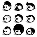 Povos do Egghead ilustração stock