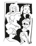 Povos do esboço ilustração do vetor