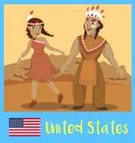 Povos do Estados Unidos Fotografia de Stock