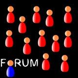 Povos do fórum ilustração royalty free