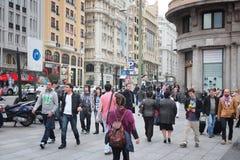 Povos do Madri Imagem de Stock