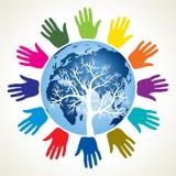 Povos do mundo. ilustração do vetor