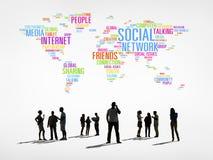 Povos do mundo com conceito social dos trabalhos em rede Fotografia de Stock Royalty Free