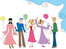 Povos do partido ilustração royalty free