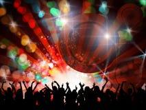 Povos do partido da noite Imagens de Stock Royalty Free