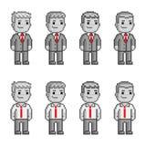 Povos do pixel em laços vermelhos Fotografia de Stock Royalty Free