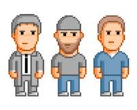 Povos do pixel para o jogo de vídeo de 8 bocados Imagens de Stock