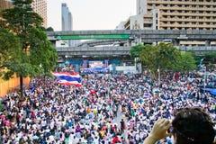 Povos do protesto de Tailândia contra a corrupção do governo. Imagens de Stock