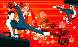 Povos do vetor do Gymnast Foto de Stock Royalty Free