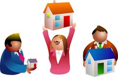 Povos dos bens imobiliários ilustração royalty free