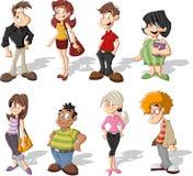 Povos dos desenhos animados Foto de Stock Royalty Free