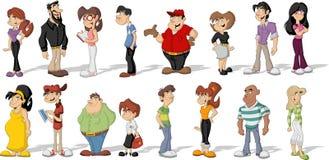Povos dos desenhos animados Fotografia de Stock Royalty Free