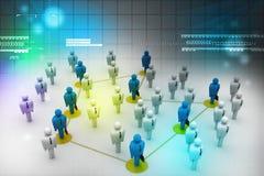 Povos dos trabalhos em rede Foto de Stock