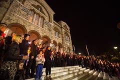 Povos durante a celebração da Páscoa ortodoxo Foto de Stock Royalty Free