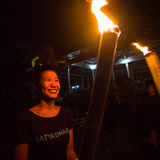 Povos durante a celebração de Nyepi - dia do silêncio, do jejum e da meditação para o Balinese Imagens de Stock
