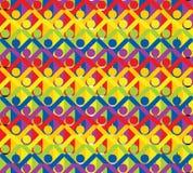 Povos e arco-íris Fotografia de Stock