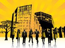 Povos e cidade Imagem de Stock