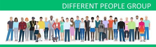 Povos e grupos diferentes, vetor Imagem de Stock