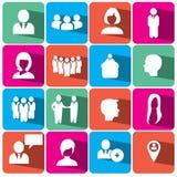 Povos e ilustração ajustada eps10 do ícone da finança Imagens de Stock