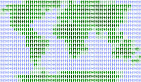 Povos e mundo, brancos Foto de Stock
