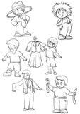 Povos e roupa Ilustração do Vetor