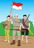 Povos e soldado de Inonesian Imagens de Stock Royalty Free