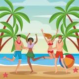 Povos e verão ilustração royalty free
