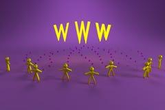 Povos e WWW ilustração stock