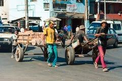 Povos em ANTANANARIVO, MADAGÁSCAR Foto de Stock