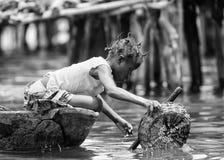 Povos em Benin, em preto e branco Imagem de Stock