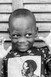 Povos em Benin, em preto e branco Fotografia de Stock Royalty Free