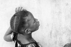 Povos em Benin, em preto e branco Imagens de Stock
