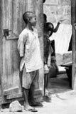 Povos em Benin, em preto e branco Fotos de Stock Royalty Free