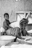 Povos em Benin (preto e branco) Imagem de Stock Royalty Free