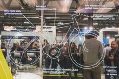 Povos em EICMA 2014 em Milão, Itália Fotografia de Stock Royalty Free