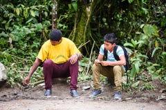 Povos em Equador Imagens de Stock Royalty Free