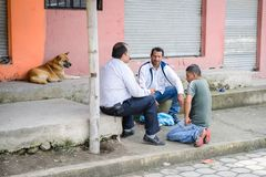 Povos em Equador Imagem de Stock