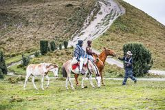 Povos em Equador Fotografia de Stock Royalty Free
