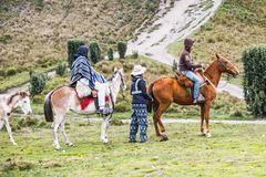 Povos em Equador Foto de Stock