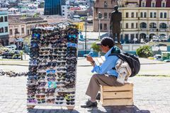 Povos em Equador Fotos de Stock Royalty Free
