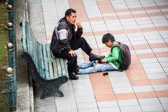 Povos em Equador Fotografia de Stock