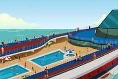 Povos em férias do cruzeiro ilustração do vetor