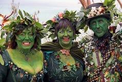Povos em Jack no festival verde Imagem de Stock