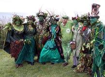 Povos em Jack no festival verde Foto de Stock