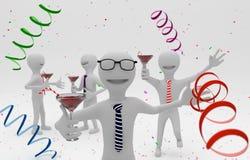 Povos em um partido da empresa Imagem de Stock Royalty Free