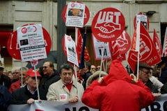 Povos em uma demonstração em favor das pensões públicas 118 Fotografia de Stock