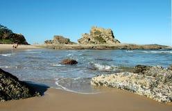 Povos em uma praia Fotografia de Stock