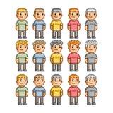 Povos engraçados de todas as cores Imagens de Stock Royalty Free